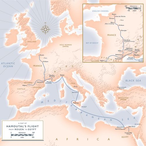 Map of medieval Europe for 'The Convert'