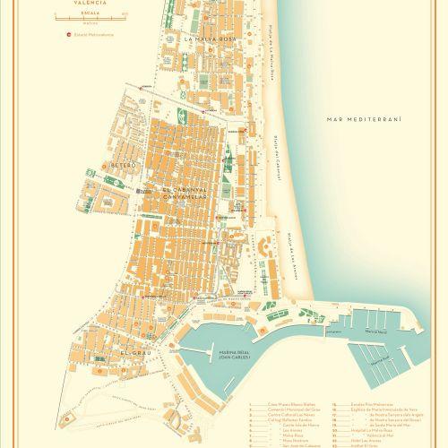 Map of Poblats Maritims, Valencia