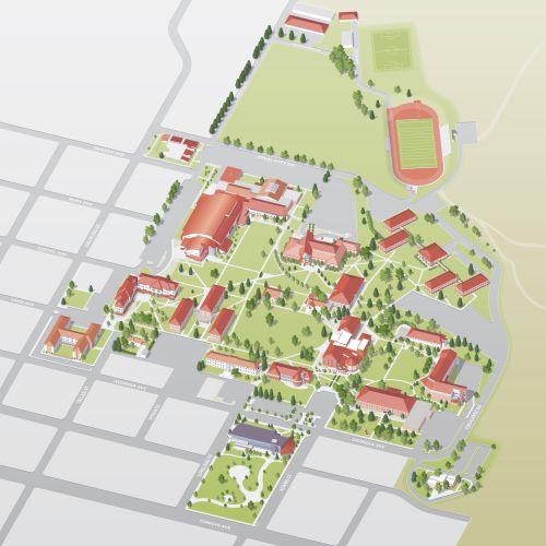 Western Colorado University campus map