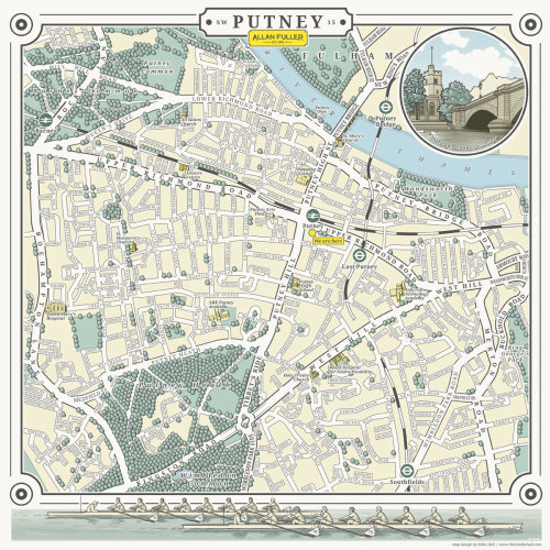 Google map illustration of Putney