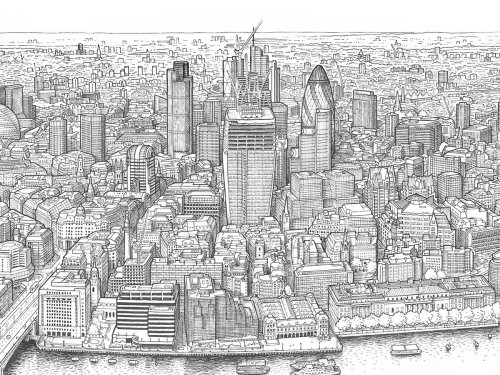 Mapa ilustrado do Panorama de Londres