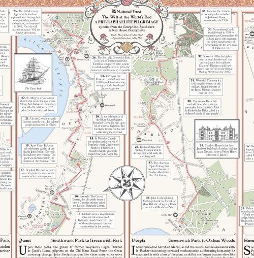 Carte de pèlerinage préraphaélite (détail)