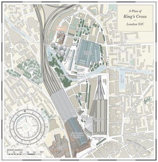 King's cross map illustration of Plimsoll Building