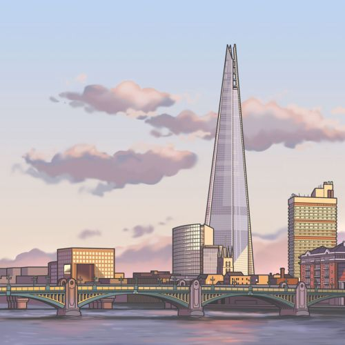 Graphic design of The Shard