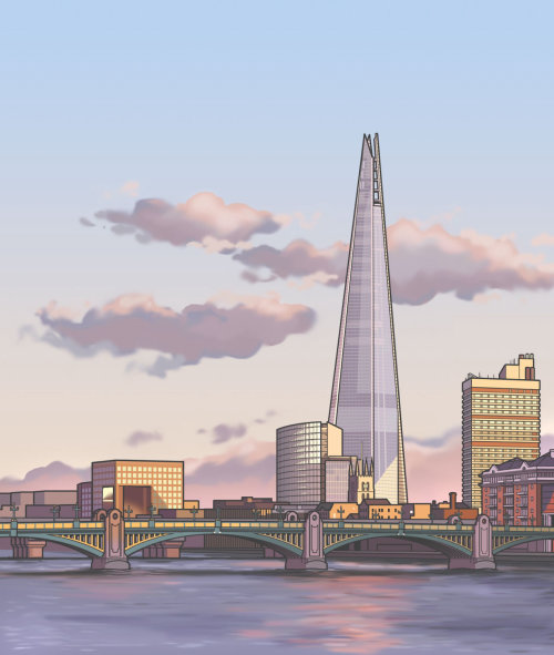 Design gráfico do The Shard