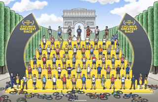 Illustration of Tour de France winners