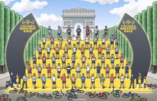 Illustration of Tour de France winners
