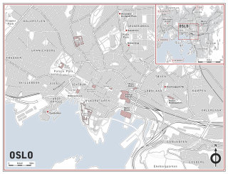 Illustrated map of Oslo city