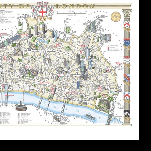 City of London illustrated map