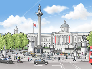 Illustration of Trafalgar Square
