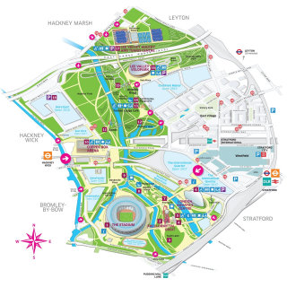 Map illustration of Queen Elizabeth olympic park