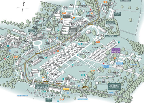 Goodwood Festival of Speed event map illustration