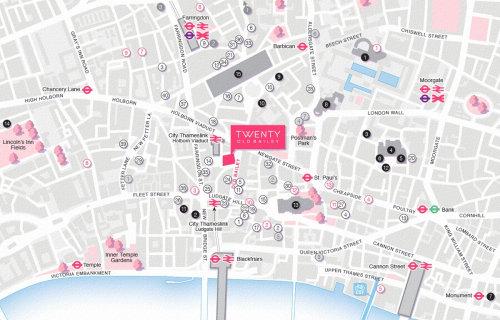 Carte de localisation de Lacon House à Londres