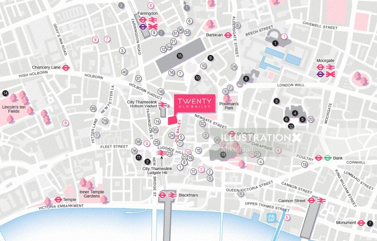Lacon House location map in  London