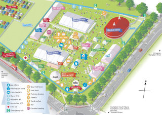 Visitor map design by Mike Hall illustrator