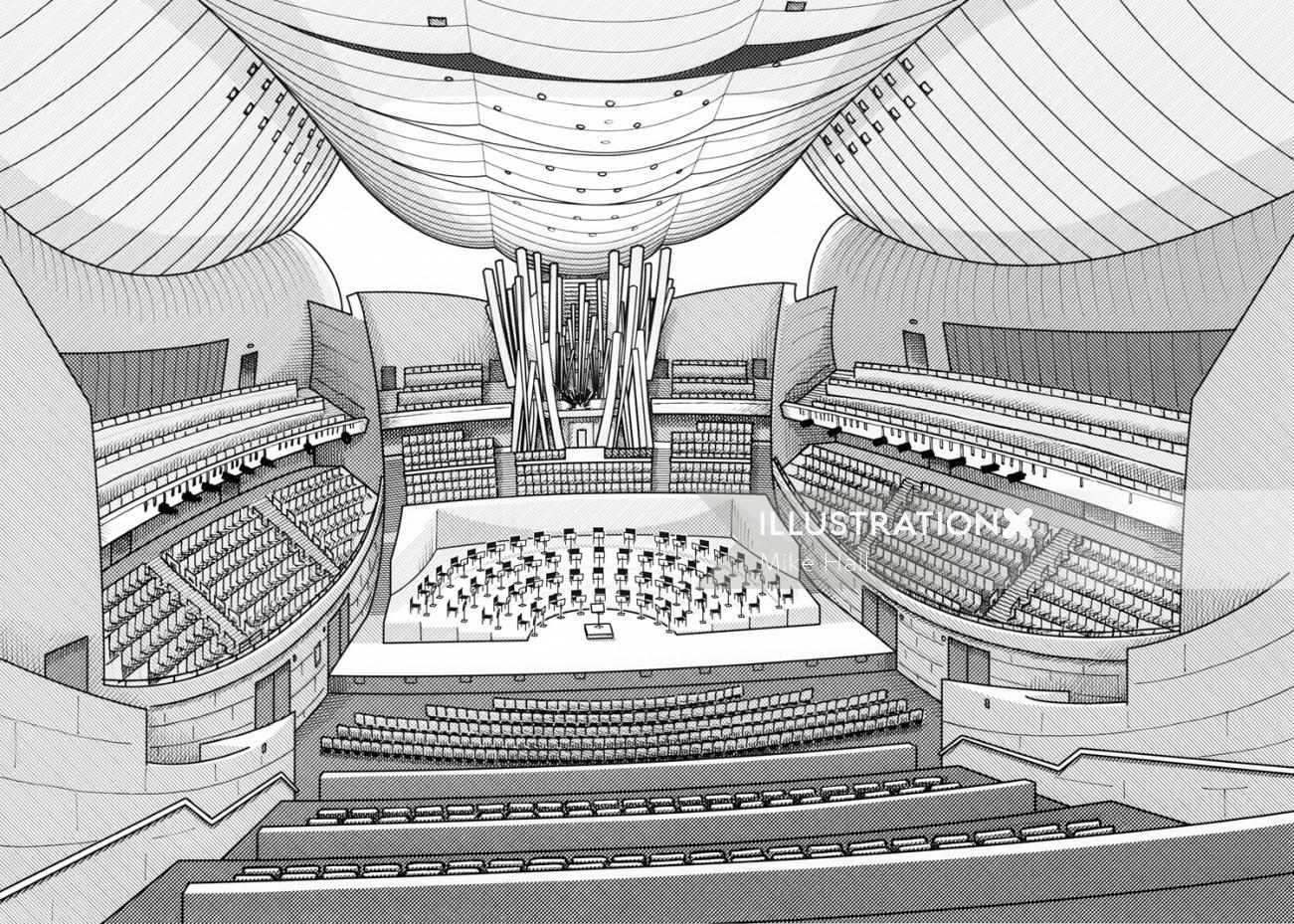 Walt disney concert hall interior design