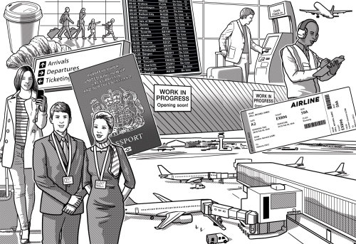 Gatwick Airport Terminal services illustration