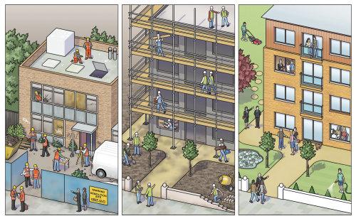 Conception de bâtiments de réaménagement