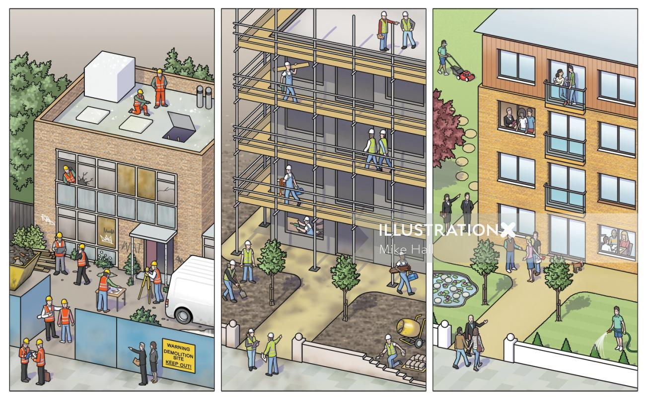 Redevelopment building design