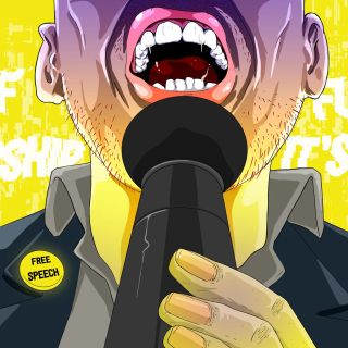 Man speech illustration