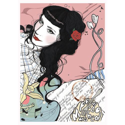 Lady fashion illustration by Miss Led