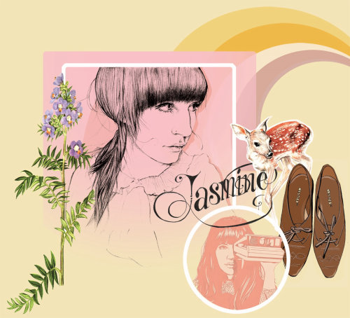 Jasmine products illustration by Miss Led