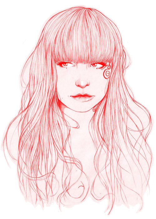 Martyna red - An illustration by Miss Led
