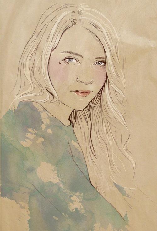 Iryna portrait illustration of a lady by Miss led