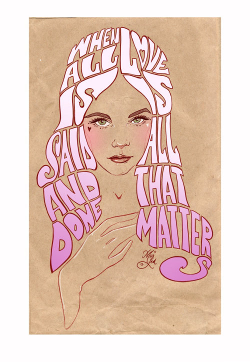 Lettering illustration by Miss Led