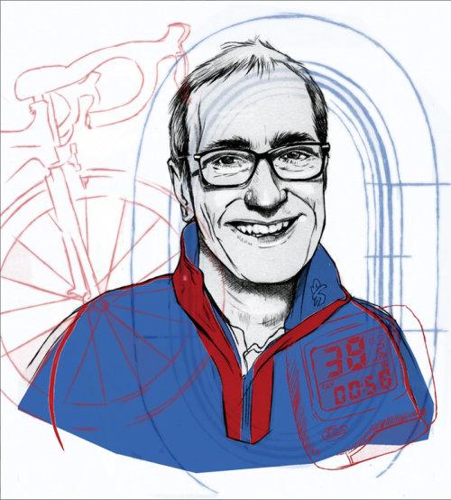 Portrait illustration of man for T3 Magazine