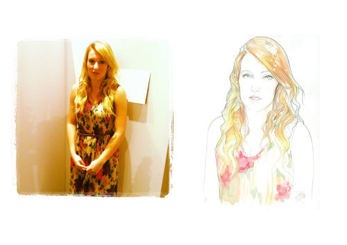 Live illustrations by Miss Led