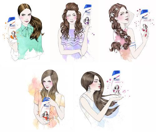 Head & shoulders illustration by Miss Led