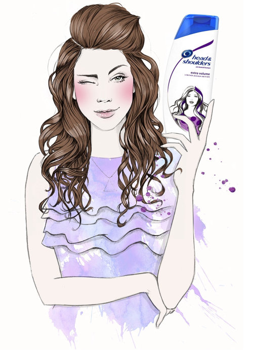 Women with Head & shoulders illustration by Miss Led