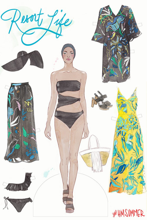 Paperdolls H&M for NYMagazine illustration by Miss Led