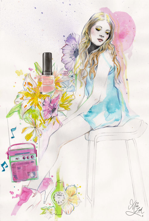 Illustration for Liquitex by Miss Led