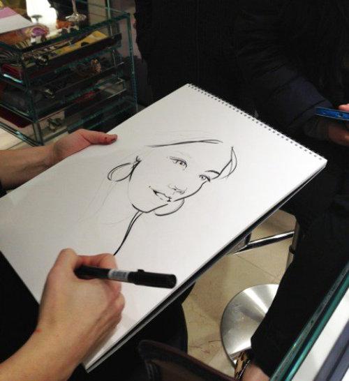 Live portrait illustration for Frey Wille by Miss Led