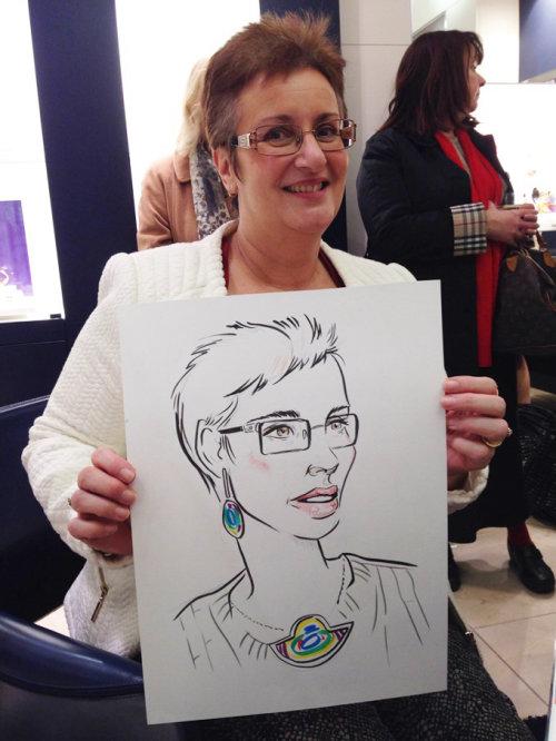 Live portraits illustration by Miss Led