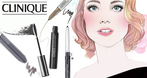 Clinique makeup products illustration by Miss Led