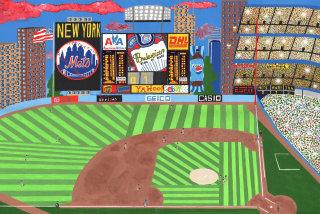 Painting of the New York Mets stadium