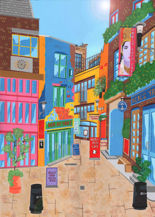 painting of the Neals yard,London
