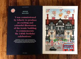 Liberty 140th Birthday commission in special Liberty Book