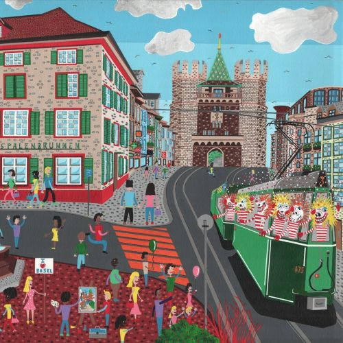 An Illustration Of Spalentor City Scene