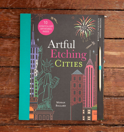 Artful etching cities book cover illustration