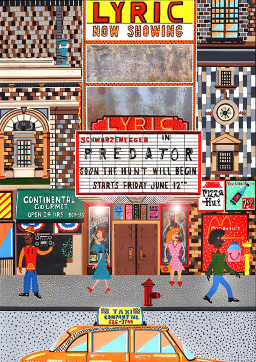 Painting of famous Lyric Theater in New York