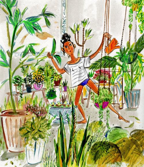 Illustration de mode de vie du chuchoteur végétal