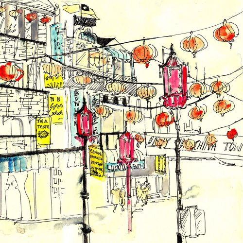 Sketchbook: China Town, New York