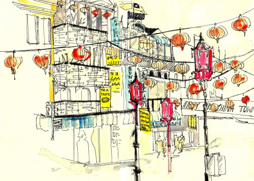 Carnet de croquis: China Town, New York