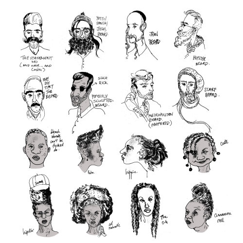 Sketchbook: New York hair guide