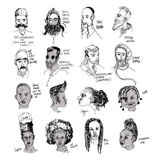 Carnet de croquis: guide de cheveux de New York