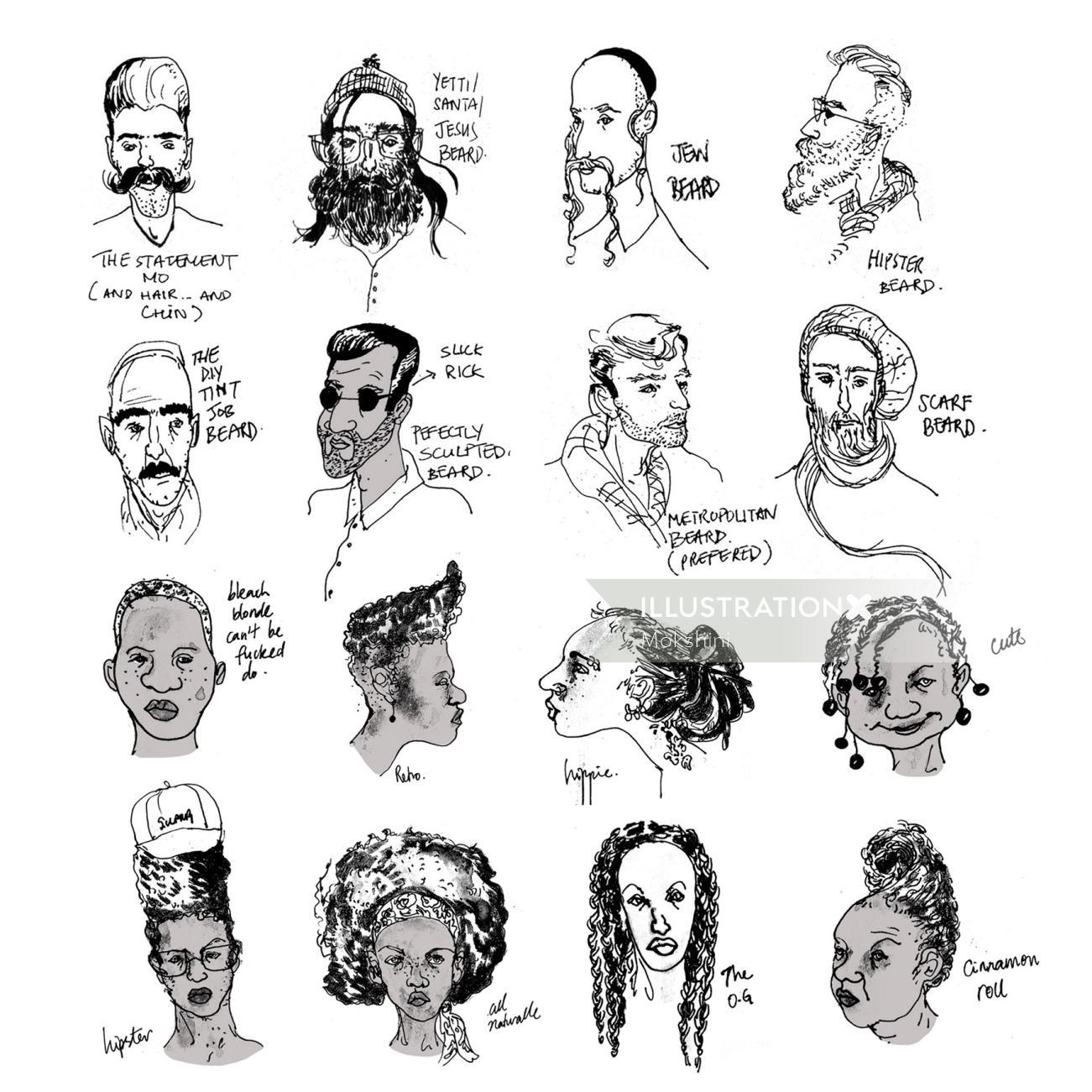 Sketchbook: New York hair guide
